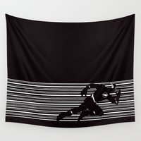 flash Wall Tapestries featuring flash by MISTER BLACKWHITE