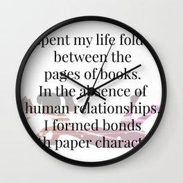 Paper Characters Wall Clock