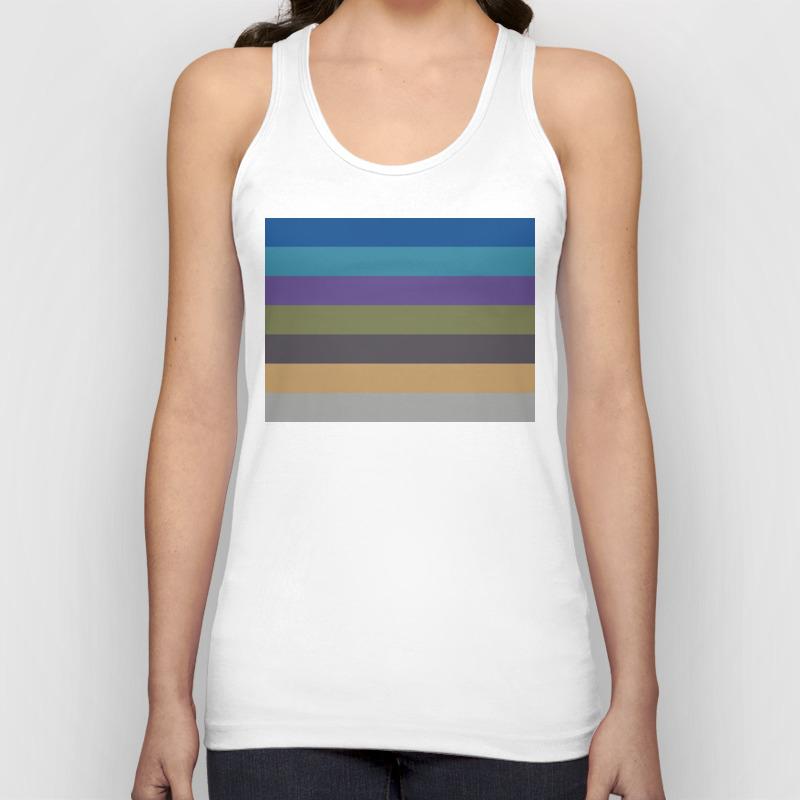 Intrigue Stripes Unisex Tank Top by Stillpoint TNK8818462