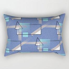 Blue Geo Rectangular Pillow