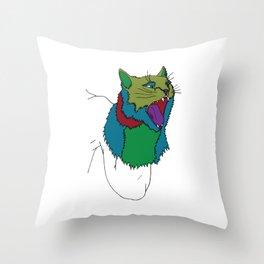 Cat Puppet Throw Pillow