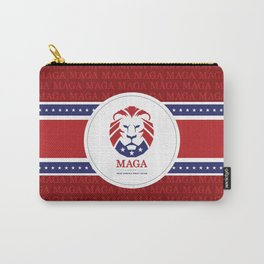 MAGA Make America Great Again USA Lion logo red Carry-All Pouch