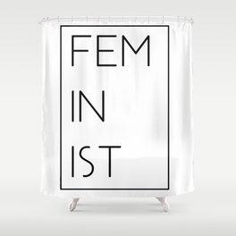 Modern Feminist Shower Curtain