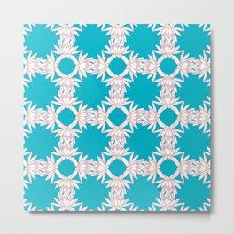 Water Lily Ring Pattern Design Metal Print