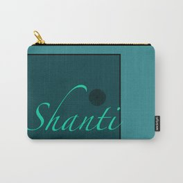 Shanti Blue Carry-All Pouch