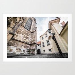 Random Streets in Old Brno Art Print