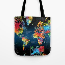 World Map Black - 2 Tote Bag