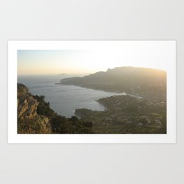 Sunset On The French Riviera Art Print