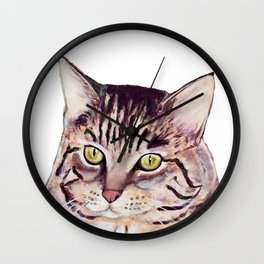 Sassafras the Cat Wall Clock