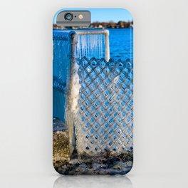 Frozen Fence at Van Buren Point  iPhone Case
