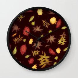 Autumn Leaves Festive Wall Clock