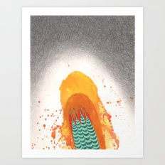 Duck And Cover Art Print