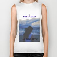 west coast Biker Tanks featuring In The West Coast by Dr.RPF