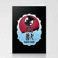 kaiju Stationery Cards featuring Kaiju Sake by zerobriant
