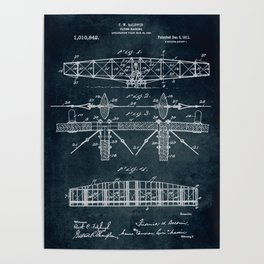 Flying machine Patent Poster