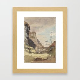 islay-landscape by John Francis Campbell Framed Art Print