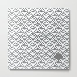 Grey / Gray Pattern Metal Print