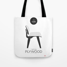 Eames' Plywood chair (minimalistic version) Tote Bag