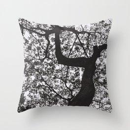 Under the raintree Throw Pillow