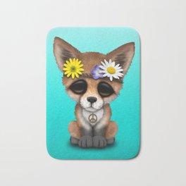 Cute Baby Fox Hippie Bath Mat