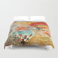 balloons Duvet Covers featuring Balloons by takmaj