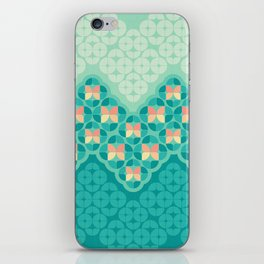 Blue Garden Pattern iPhone Skin