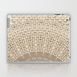 Unique Texture Taupe Burlap Mandala Design Laptop & iPad Skin