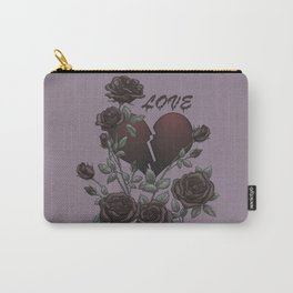 Black Roses Broken Heart Lost Love Carry-All Pouch