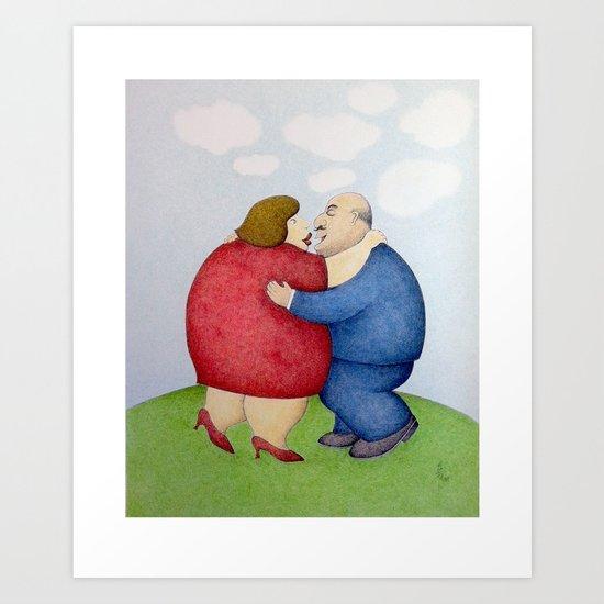 The Big Hug Art Print