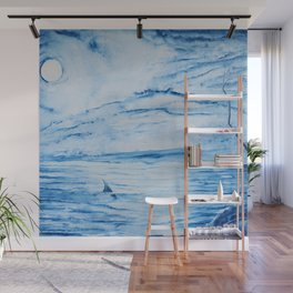 Full moon over shallow water Wall Mural