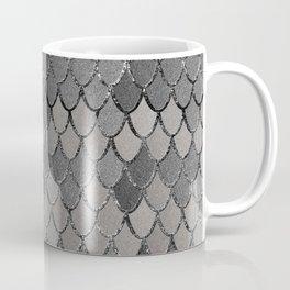 Mermaid Scales Silver Gray Glam #1 #shiny #decor #art #society6 Coffee Mug
