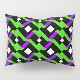 Abstract Green Purple Pale Pop Art Pattern Art Pillow Sham