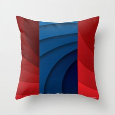 Red and blue color gradient Throw Pillow