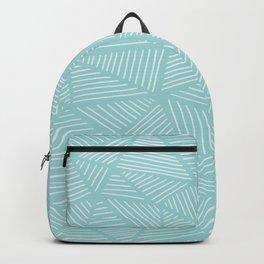 Powder Blue Triangles Backpack