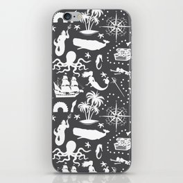 High Seas Adventure // Charcoal iPhone Skin