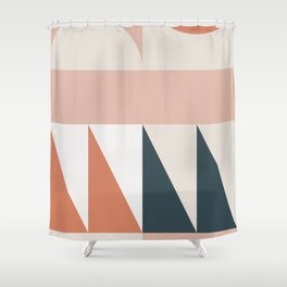 Cirque 04 Abstract Geometric Shower Curtain