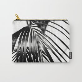 Black & White Palm Leaf #2 #decor #art #society6 Carry-All Pouch