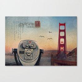 GOLDEN GATE RAIN - San Francisco Canvas Print