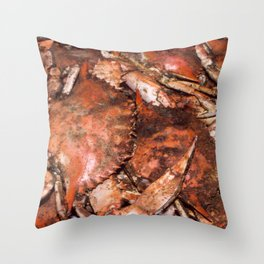 Crab Feast Throw Pillow