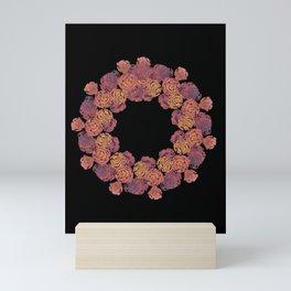 Rosey Rose Wreath, Pink Mini Art Print