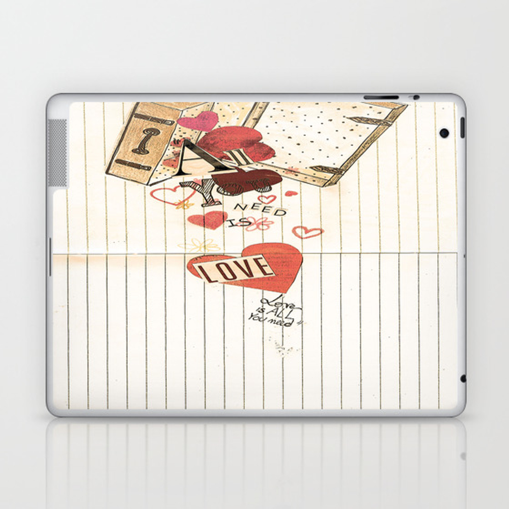 All You Need Is Love, Love Is All You Need Laptop & Ipad Skin by Angelcapa LSK8055433