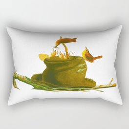 House Wren Bird Rectangular Pillow