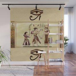 Calling to the Gods Egyptian Folk Art Wall Mural