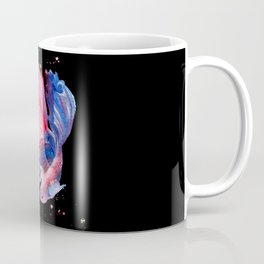 Betta Splendens Fish - Black Background Coffee Mug