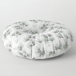 Pine Needles Gray Floor Pillow