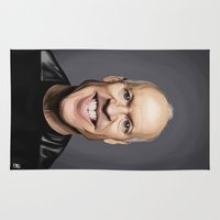 actor Area & Throw Rugs featuring Celebrity Sunday ~ Michael Keaton by rob art | illustration