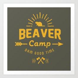 Beaver Camp Art Print