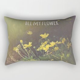 BEE MY FLOWER Rectangular Pillow