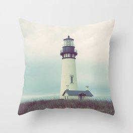 Oregon Lighthouse Throw Pillow