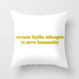 KYLIE FOR HUMANITY Throw Pillow